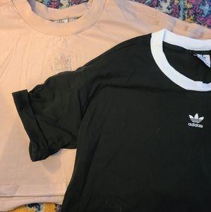 Set of 2 Plus Size Adidas Crop Tops